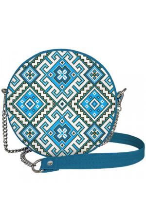 Круглая сумка «Голубая вышиванка» (Tablet)