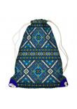 Рюкзак-мішок «Блакитна вишиванка»