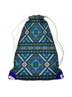 Рюкзак-мешок «Голубая вышиванка»