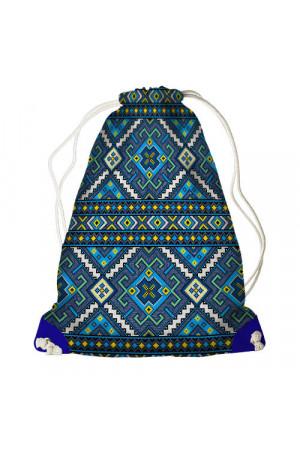 Рюкзак-мішок «Синій орнамент»