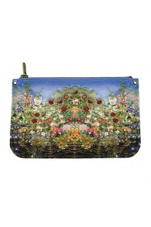 Шкіряна косметичка «Квіти Катерини Білокур»