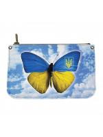 Кожаная косметичка «Бабочка»