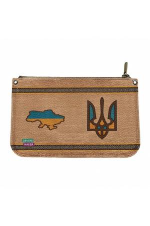 Кожаная косметичка «Украина мужественная»