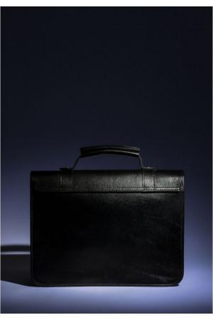 Сумка-сетчел «Бланк» чорного кольору