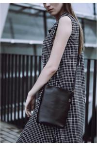Сумка-кроссбоди «Бланк» черного цвета