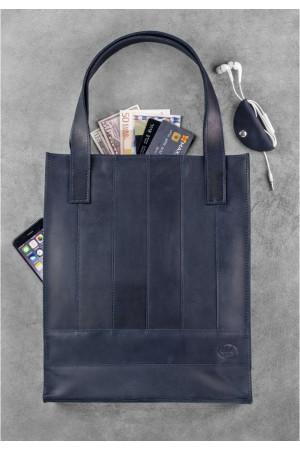 Сумка-шоппер «Бэтси» синего цвета
