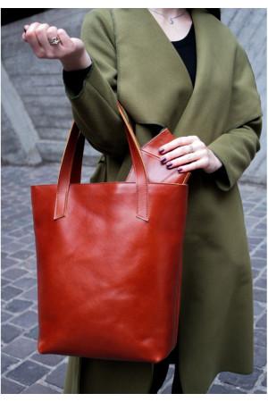Сумка-шоппер «Диди» цвета коньяк