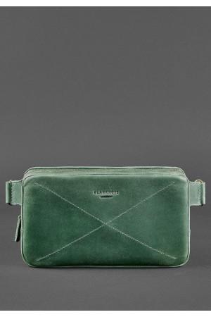 Поясна сумка «Дроп максі» кольору смарагд