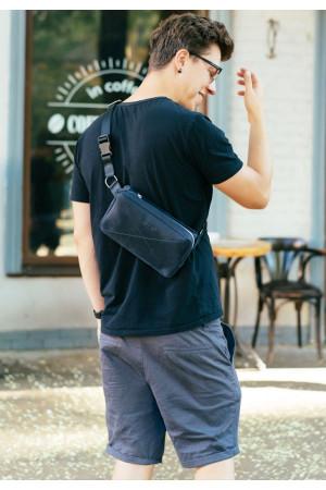 Поясна сумка «Дроп максі» синього кольору