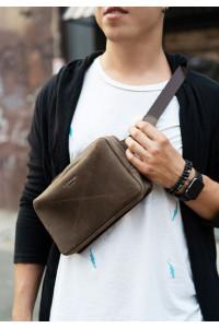 Поясна сумка «Дроп максі» кольору горіх