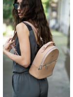 Шкіряний рюкзак «Кайлі» кольору крем-брюле