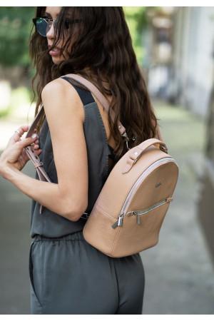 Кожаный рюкзак «Кайли» цвета крем-брюле