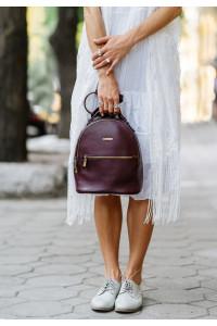 Кожаный рюкзак «Кайли» цвета марсала