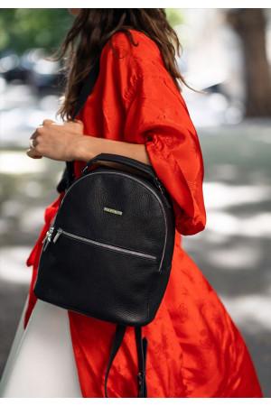 Кожаный рюкзак «Кайли» цвета оникс