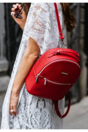 Кожаный рюкзак «Кайли» цвета рубин
