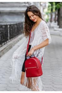 Шкіряний рюкзак «Кайлі» кольору рубін