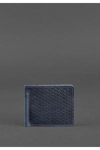 Зажим для денег синего цвета с фактурой «карбон»