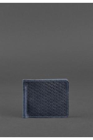 Зажим для грошей синього кольору з фактурою «карбон»