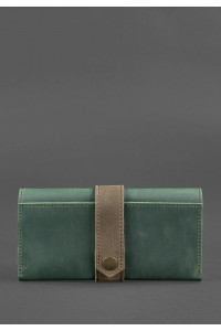 Жіноче портмоне 3.0 кольорів смарагд-горіх