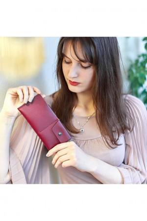 Жіноче портмоне-купюрник 8 кольору виноград