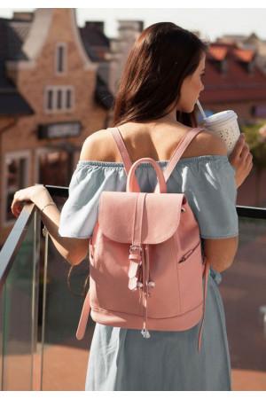 Шкіряний рюкзак «Олсен» рожевого кольору