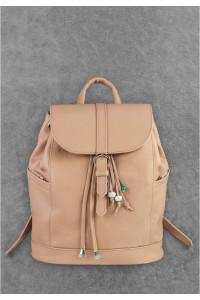 Шкіряний рюкзак «Олсен» бежевого кольору
