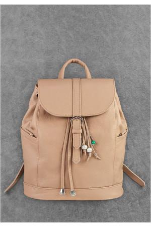 Кожаный рюкзак «Олсен» бежевого цвета