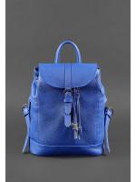 Кожаный рюкзак «Олсен» синего цвета