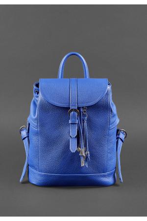 Шкіряний рюкзак «Олсен» синього кольору