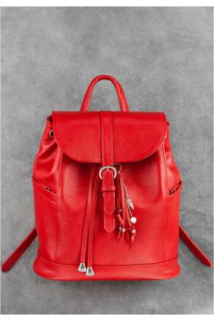 Кожаный рюкзак «Олсен» красного цвета