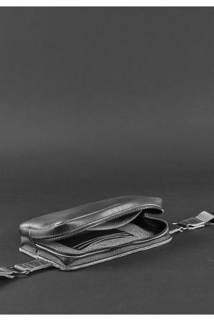 Поясна сумка «Дроп міні» кольору графіт
