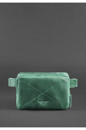 Поясная сумка «Дроп мини» цвета изумруд