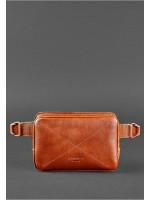 Поясная сумка «Дроп мини» цвета коньяк