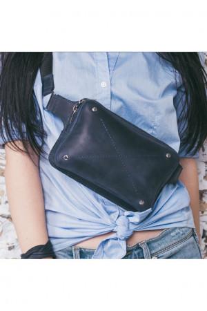 Поясна сумка «Дроп міні» синього кольору