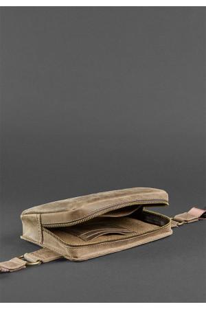 Поясная сумка «Дроп мини» цвета орех