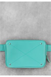 Поясна сумка «Дроп міні» кольору тіффані