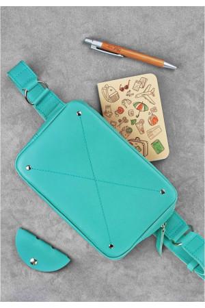 Поясная сумка «Дроп мини» цвета тиффани