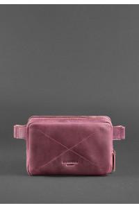 Поясная сумка «Дроп мини» цвета виноград