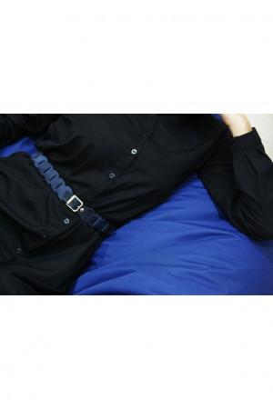 Женский ремень «Бохо» синего цвета