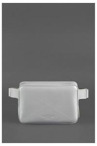 Поясна сумка «Дроп міні» сірого кольору