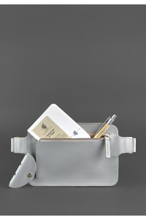 Поясная сумка «Дроп мини» серого цвета