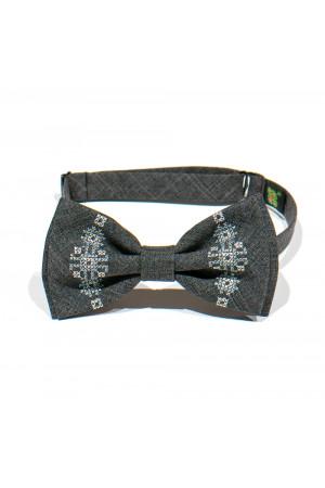 Подростковый комплект: галстук-бабочка и подтяжки серого цвета