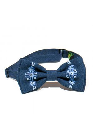 Подростковый комплект: галстук-бабочка и подтяжки синего цвета
