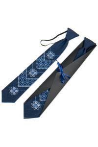 Підліткова краватка «Златодан» синього кольору