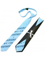 Підліткова краватка «Квітан» блакитного кольору