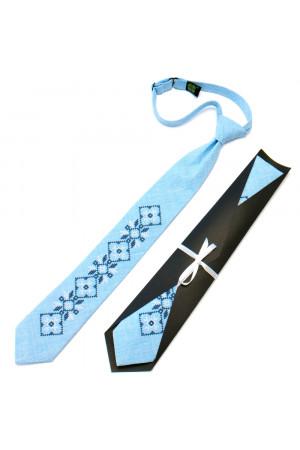 Підліткова краватка «Гордій» блакитного кольору