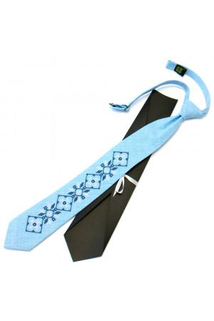 Подростковый галстук «Гордей» голубого цвета