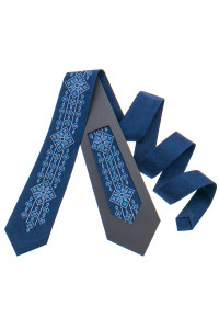 Вышитый галстук «Илларион»