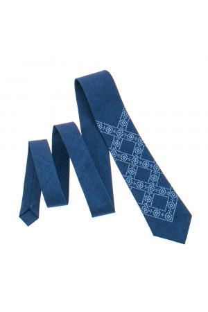 Вышитый галстук «Лев»