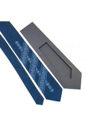 Вышитый галстук «Клавдий»
